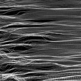 волна иллюстрации copyspase абстрактной предпосылки голубая Решетка пульсации абстрактная иллюстрация вектора стиль технологии 3D иллюстрация штока