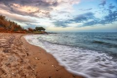 Волна и песок моря Стоковые Фотографии RF