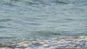 Волна и пузырь на пляже акции видеоматериалы