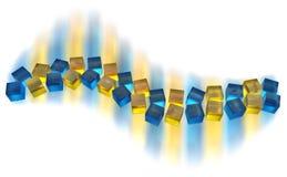 волна кубиков Стоковая Фотография