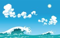 волна лета бесплатная иллюстрация