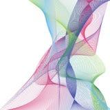 Волна много покрашенных линий Абстрактные волнистые нашивки на белой изолированной предпосылке Творческая линия искусство Иллюстр бесплатная иллюстрация
