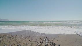 Волна моря в осени сток-видео