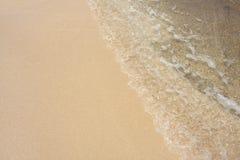 волна моря песка стоковое фото