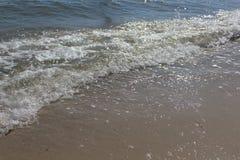 Волна моря Песок, seascape Стоковое Изображение RF