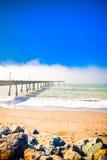 волна моря пристани pacifica california стоковые фотографии rf
