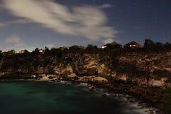 Волна ночи скала Стоковые Изображения RF