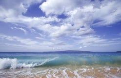 волна океана Гавайских островов стоковое фото