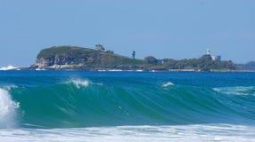 волна острова стоковая фотография rf