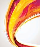 волна пламени Стоковая Фотография
