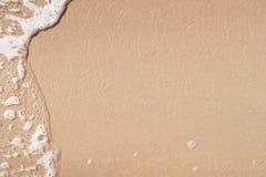 волна пляжа песочная Стоковые Фотографии RF