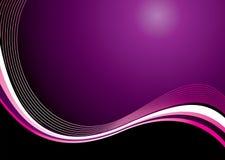 волна помоха пурпуровая иллюстрация вектора