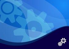 волна предпосылки голубая Стоковая Фотография