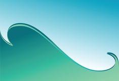 волна предпосылки зеленая Стоковое Изображение RF