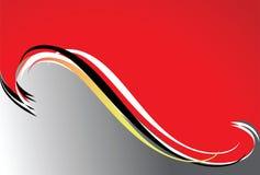 волна предпосылки серая красная Стоковые Изображения RF