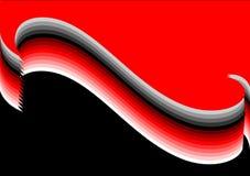 волна предпосылки серая красная Стоковые Фото