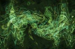 волна предпосылки зеленая Стоковое фото RF