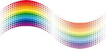 волна радуги halftone Стоковые Изображения
