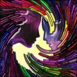 Волна свирли цветного стекла человека бесплатная иллюстрация