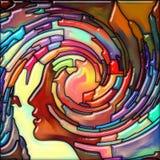Волна свирли цветного стекла человека иллюстрация вектора