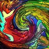 Волна свирли цветного стекла человека иллюстрация штока