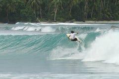 волна серфера Индонесии тропическая Стоковое фото RF