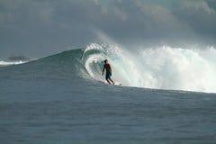 волна серфера Индонесии Стоковое Изображение RF