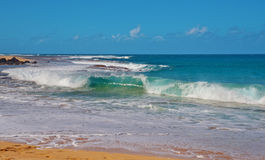 волна силы океана Тихая океан Стоковая Фотография