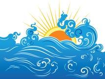 волна солнца Стоковая Фотография RF