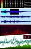 волна спектра редактора анализатора Стоковое Изображение