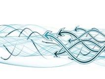волна стрелки Стоковое фото RF
