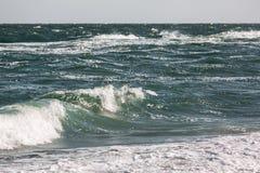 Волна шторма моря, морская предпосылка Стоковое Фото