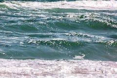 Волна шторма моря, морская предпосылка Стоковое Изображение