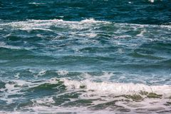 Волна шторма моря, морская предпосылка Стоковая Фотография RF