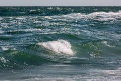Волна шторма моря, морская предпосылка Стоковое Изображение RF