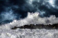 волна шторма Стоковые Фотографии RF