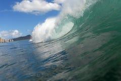 волна barreling стоковые фото