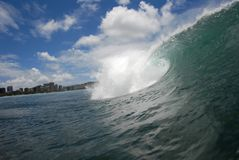 Волна barreling стоковые изображения