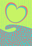 волна valentines сердец дня карточки Стоковое Изображение RF