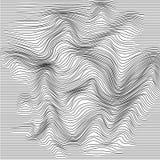 Волнистая линия деформация Абстрактная monochrome striped предпосылка небольшого затруднения также вектор иллюстрации притяжки co иллюстрация штока