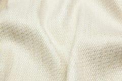 Волнистая предпосылка текстуры крупного плана ткани Стоковые Фото