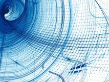Волнистая решетка - изображение конспекта цифров произведенное Стоковая Фотография RF