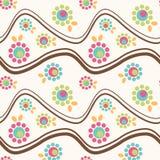 волнистое гор цветка безшовное Стоковая Фотография