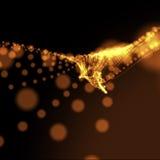 волнистое предпосылки расплывчатое поставленное точки померанцовое Стоковое Изображение