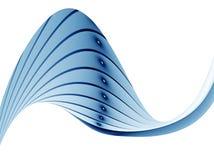 волнистое предпосылки striped синью Стоковая Фотография RF