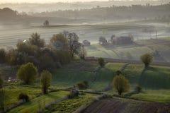 Волнистые поля, картины сказки Стоковая Фотография RF