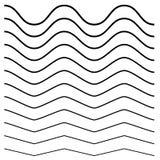 Волнистый, крис кросс, линии зигзага Комплект различных уровней иллюстрация вектора