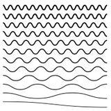 Волнистый, крис кросс, линии зигзага Комплект различных уровней иллюстрация штока