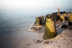 Волнорез в долгой выдержке моря Стоковое фото RF