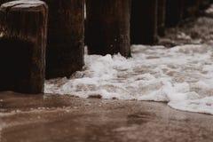Волнорез Groyne на Балтийском море стоковое изображение